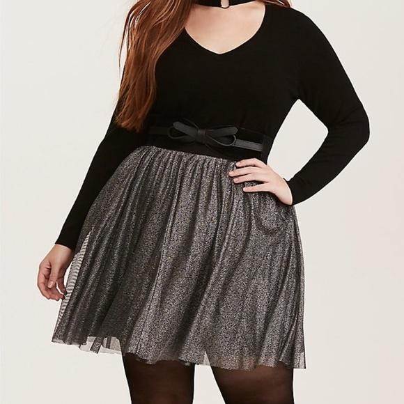 f4cc6c9a7244c6 torrid Skirts | Silver Shimmer Tulle Challis Mini Skirt | Poshmark